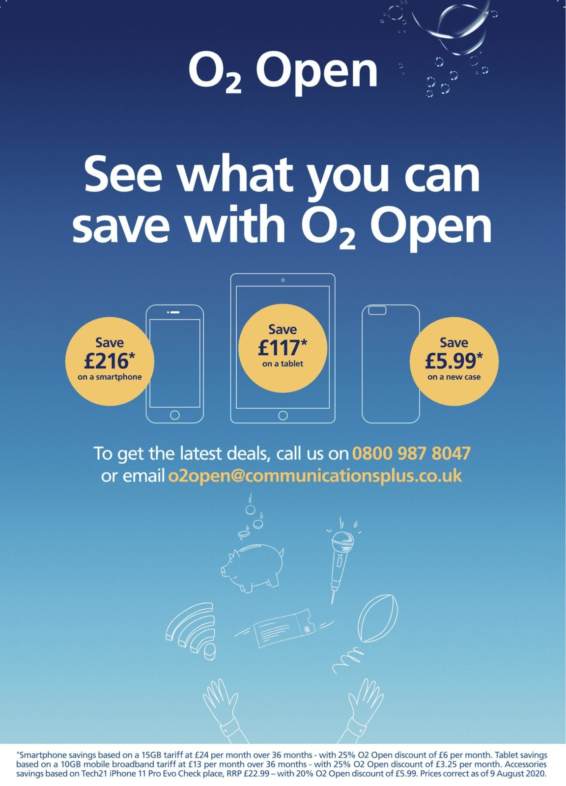 O2 Open Savings Offer